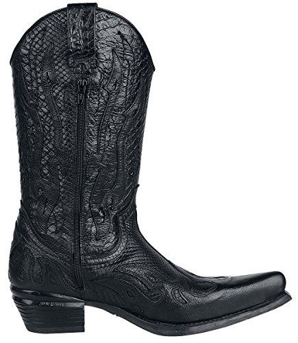 New Acero Dallas Tacon Rock Nero Stivali r1fqOrxP