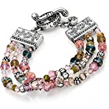 Brighton Ophelia Jewels Bead Silver Plated Multi Pink Bracelet