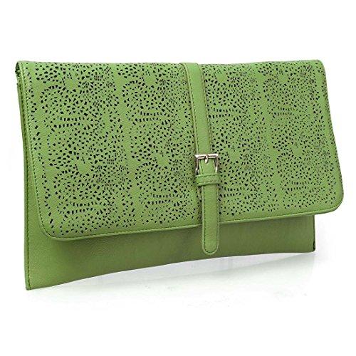 Decorativo de diseño de BMC Fashion cortarse para adaptarse a tus de piel sintética perfecto para vestir sobre piñón libre verde - verde