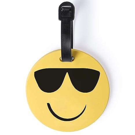 Lote DE 10 IDENTIFICADORES DE Maletas Emoji: Amazon.es: Equipaje