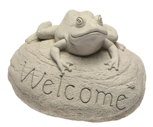 Carruth 332 Frog Welcome Stone