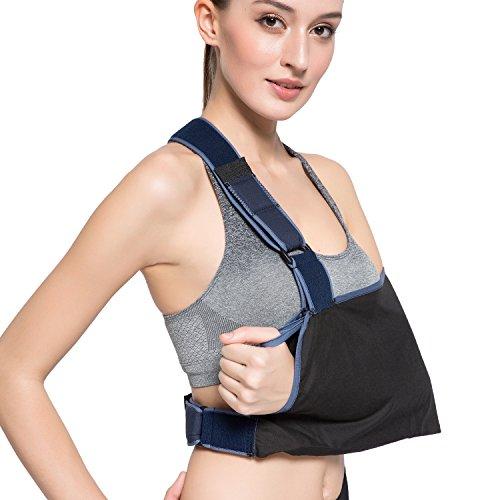 Arm Sling Shoulder Immobilizer With Adjustable Split Strap Technology  Ergonomic Design  Maximum Comfort For Men Women   Kids By Velpeau  Shoulder Width 17 3 4  21 3 4 Large