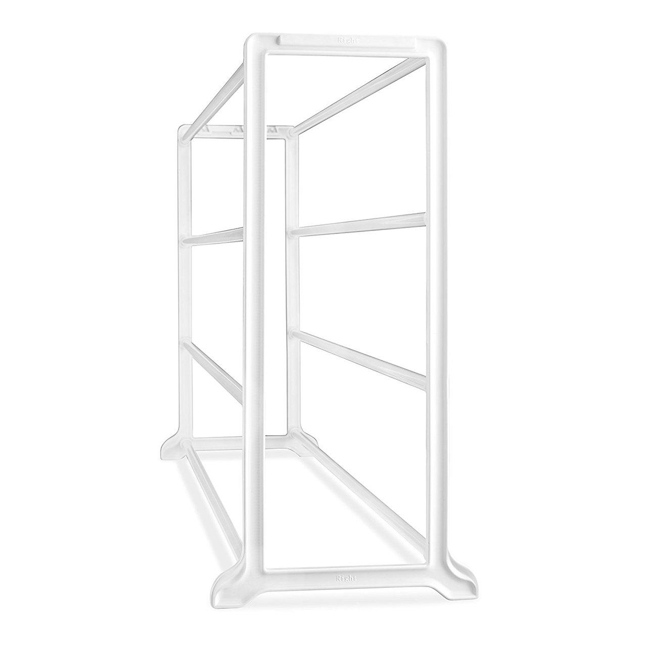 White SortWise /® 4-Tier Floor Stand Shoe Rack Organizer 20 Pairs Shoe Tower Organizer Cabinet Entryway Stackable Storage Shelf Unit 35 7//16 L x 9 1//16 W x 9 1//16 H