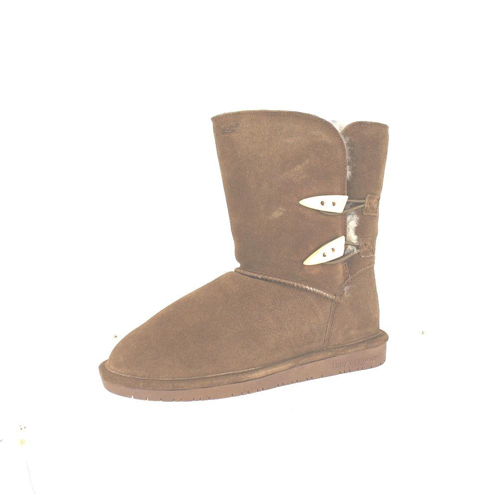 BEARPAW Women's Abigail Winter Boot, Hickory, 6 M US