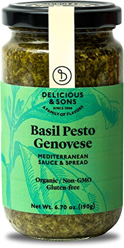 (Delicious & Sons Organic Basil Pesto Genovese 6.70 oz.)