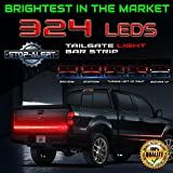 """Stop-Alert Most Powerful Multi-Function 60"""" Truck Tailgate Light Bar Strip - 324 LED and 468+ Lumens - For Running Lights, Brake Signal, Reverse Back Up for SUV, Dodge Ram, Ford F-150, Chevy Silverado"""
