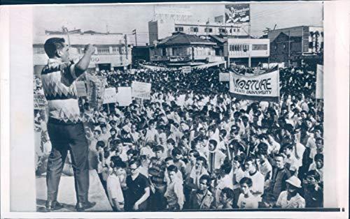 Vintage Photos 1970 Press Photo Politics Manila Plaza Miranda President Ferdinand Marcos 6x10
