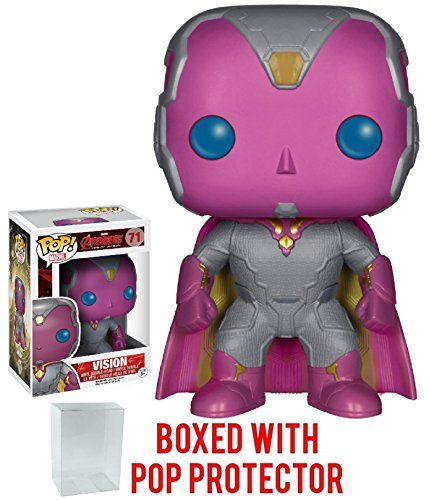 Funko Pop! Marvel: Avengers 2 Age of Ultron - Vision Vinyl Figure (Bundled with Pop Box Protector -