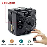 Mini Camera with IR Night vision, KAMRE Portable Retro Sports DV Camera SQ10 HD 1080P Camera DVR Motion detection Video Camcorder TV for Home Security Nanny Cam