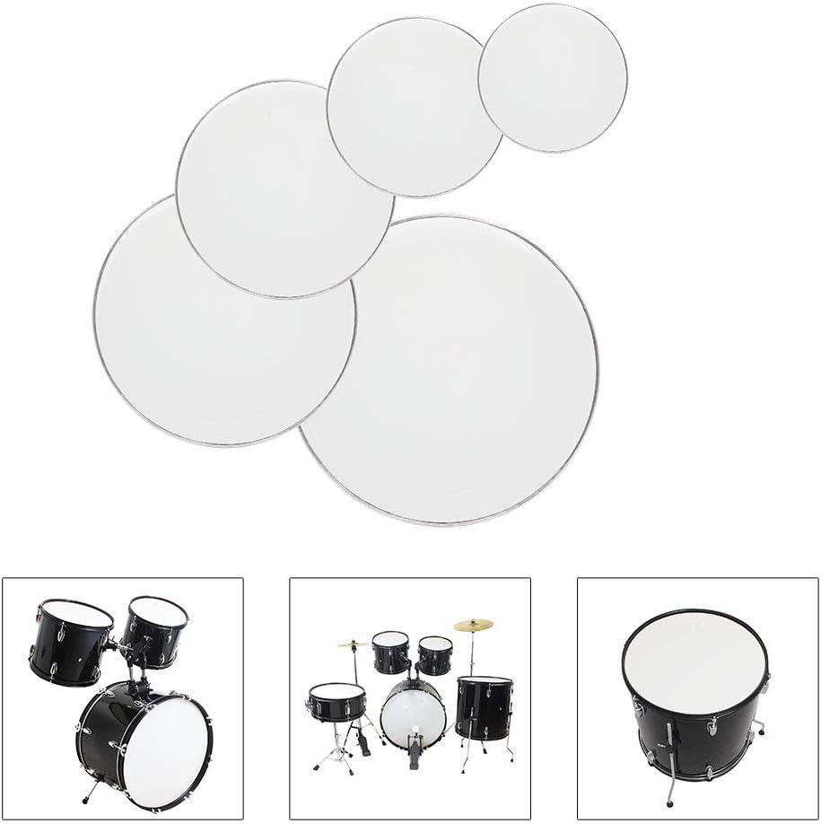Drum Heads 22, 16, 14, 13, 12 White