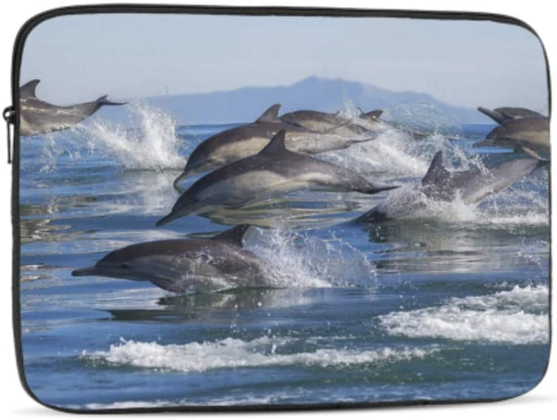 Dolphin Leap Out of The Blue Waters Pattern Neoprene Sleeve Pouch Case Bag for 11.6 Inch Laptop Computer Designed to Fit Any Laptop//Notebook//ultrabook//MacBook with Display Size 11.6 Inches