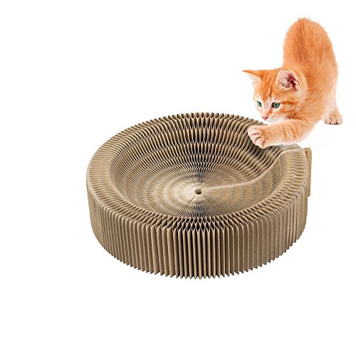 Cat Scratcher Cardboard Bed Corrugated Cat Lounge Scratching Pad by JanYoo