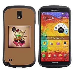 LASTONE PHONE CASE / Suave Silicona Caso Carcasa de Caucho Funda para Samsung Note 3 N9000 N9002 N9005 / Violin boy