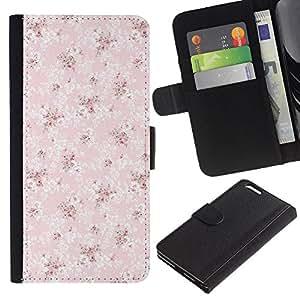 """WINCASE (No Para IPHONE 6, 4.7"""") Cuadro Funda Voltear Cuero Ranura Tarjetas TPU Carcasas Protectora Cover Case Para Apple Iphone 6 PLUS 5.5 - patrón de papel tapiz de color rosa de la vendimia"""