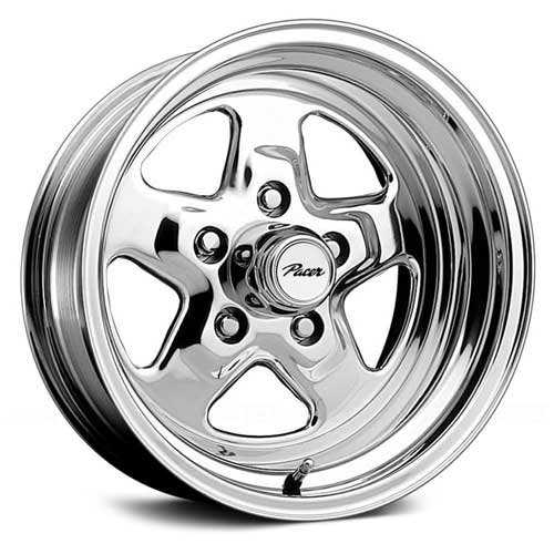 Pacer Dragstar 15×7 Polished Wheel / Rim 5×5 with a 0mm Offset and a 83.00 Hub Bore. Partnumber 521P-5773