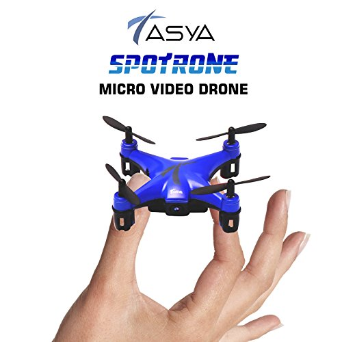 TASYA-Spotrone-Micro-Video-Drone-with-Built-in-HD-Camera-6-Axis-Gyroscope-Altitude-Hold-Function-24Ghz-Remote-Control-4-Channels-RTF-Mini-Quadcopter-Toy-Blue