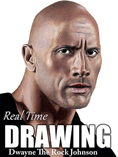 Real Time Drawing Dwayne The Rock Johnson by