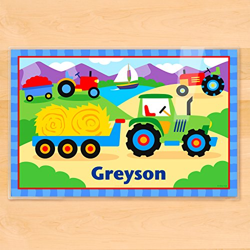 Olive Kids Tractor Personalized (Olive Kids Personalized Placemat)