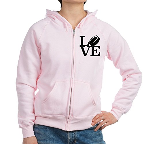 (CafePress - Love Hockey - Womens Zip Hoodie, Classic Hooded Sweatshirt with Metal Zipper)