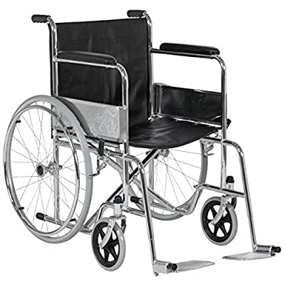 Best Choice Products 24'' Lightweight Folding Wheelchair Swing-Away Footrest