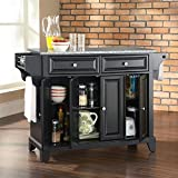 Cheap Crosley Furniture Newport Solid Granite Top Kitchen Island in Black Finish