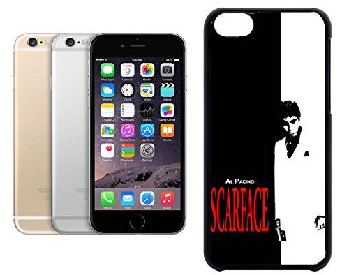 Cas de l'iPhone 6. Plastique noir avec High Gloss Imprime Inserer - Al Pacino Scarface
