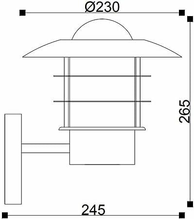 Biard Applique Extérieure Montante Chromée Belfort