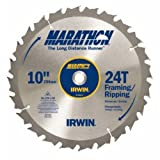 IRWIN Tools MARATHON Carbide Table / Miter Circular Blade, 10-Inch, 24T (14233) фото