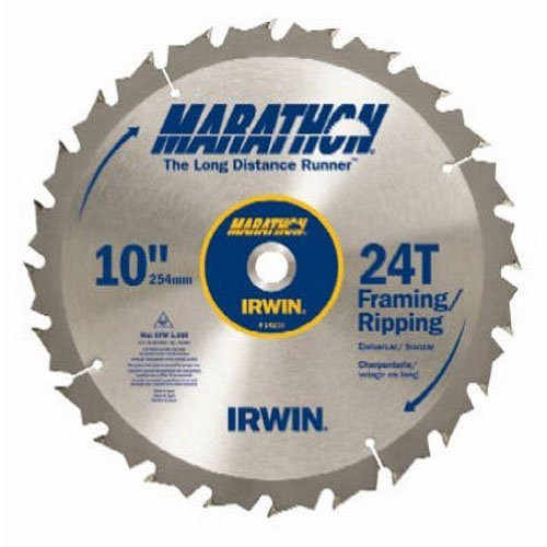 Irwin Tools Marathon Carbide Table Miter Circular Blade  10 Inch  24T  14233