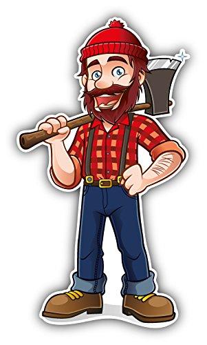 - novland Funny Lumberjack Cartoon Car Bumper Sticker Decal 3'' x 6''