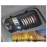 LuckySHD Car Sun Visor CD Organizer DVD Holder Glasses Storage Holder