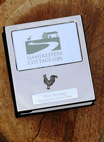Chicken Hen Poultry Design Silver Personalised Photo Album Free Engraving Pewter Emblem Holds 100 6x4 Photos
