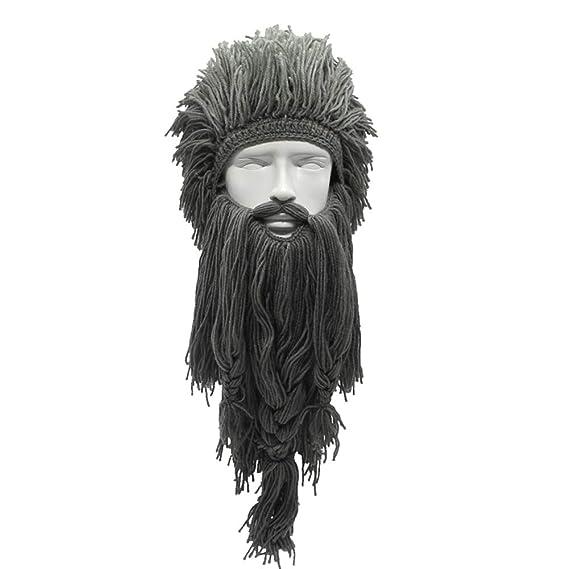 Gorro gracioso para halloween - Gorro de barba y cabello para disfraz.