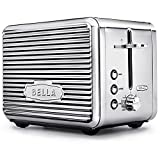 extra long toaster oven - BELLA LINEA 2 Slice Toaster with Extra Wide Slot, Color Polished Stainless Steel