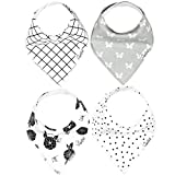 "Baby Bandana Drool Bibs for Drooling and Teething 4 Pack Gift Set For Girls ""Willow Set"" by Copper Pearl"