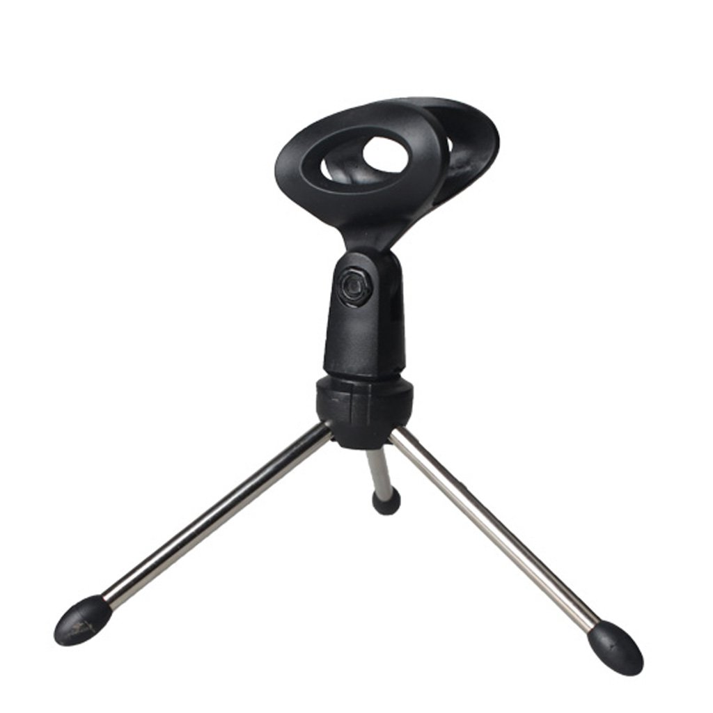 Black Adjustable Desktop Studio Metal Microphone Mic Tripod Stand Holder Generic STK0157000841