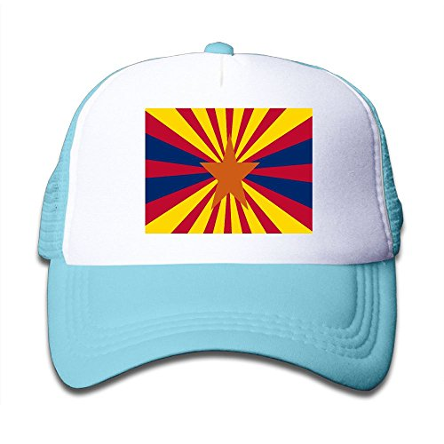 cheap Futong Huaxia Arizona Flag Boy & Girl Grid Baseball Caps Adjustable sunshade Hat For Children