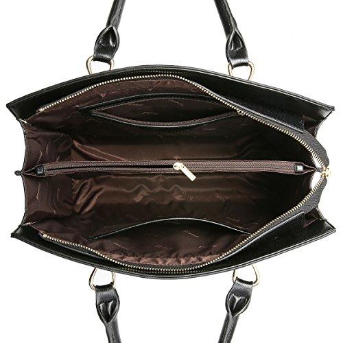 marron Sacs femme Sac Tote à bandoulière à Vintage Bag à Kadell main Noir cuir Sac en bandoulière wZSWdRgTq