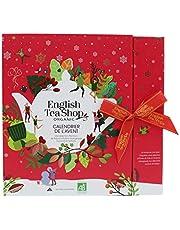 English Tea Shop Book Style Red Advent Calendar Tea bags, 50 g