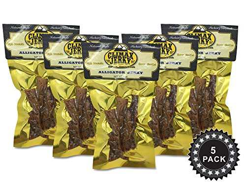 Cajun Smoked Salmon (BEST Natural Style 1 OZ. Smoked Cajun Alligator Jerky - 100% Made From Solid Strips of Gator - No Preservatives - High Protein - Low Carbs (Alligator Smoked Cajun, Alligator)