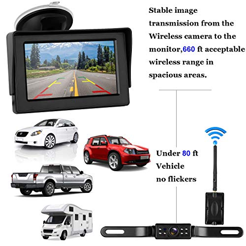 Digital Wireless Backup Camera Amp 4 3 Monitor Kit Rv Car
