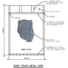 EasyCover Black Dump Truck/Trailer Mesh Flip Tarps (7' W x 12' L)