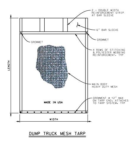 dump trailer mesh tarp - 4
