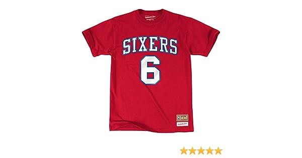 Camiseta de Julius Erving #6 Philadelphia 76ers Nombre y número (S): Amazon.es: Deportes y aire libre