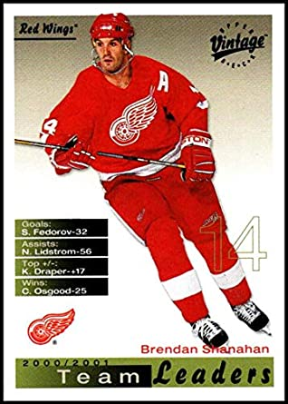 3f973e85d3b 2001-02 Upper Deck Vintage #95 Brendan Shanahan NM-MT Detroit Red Wings