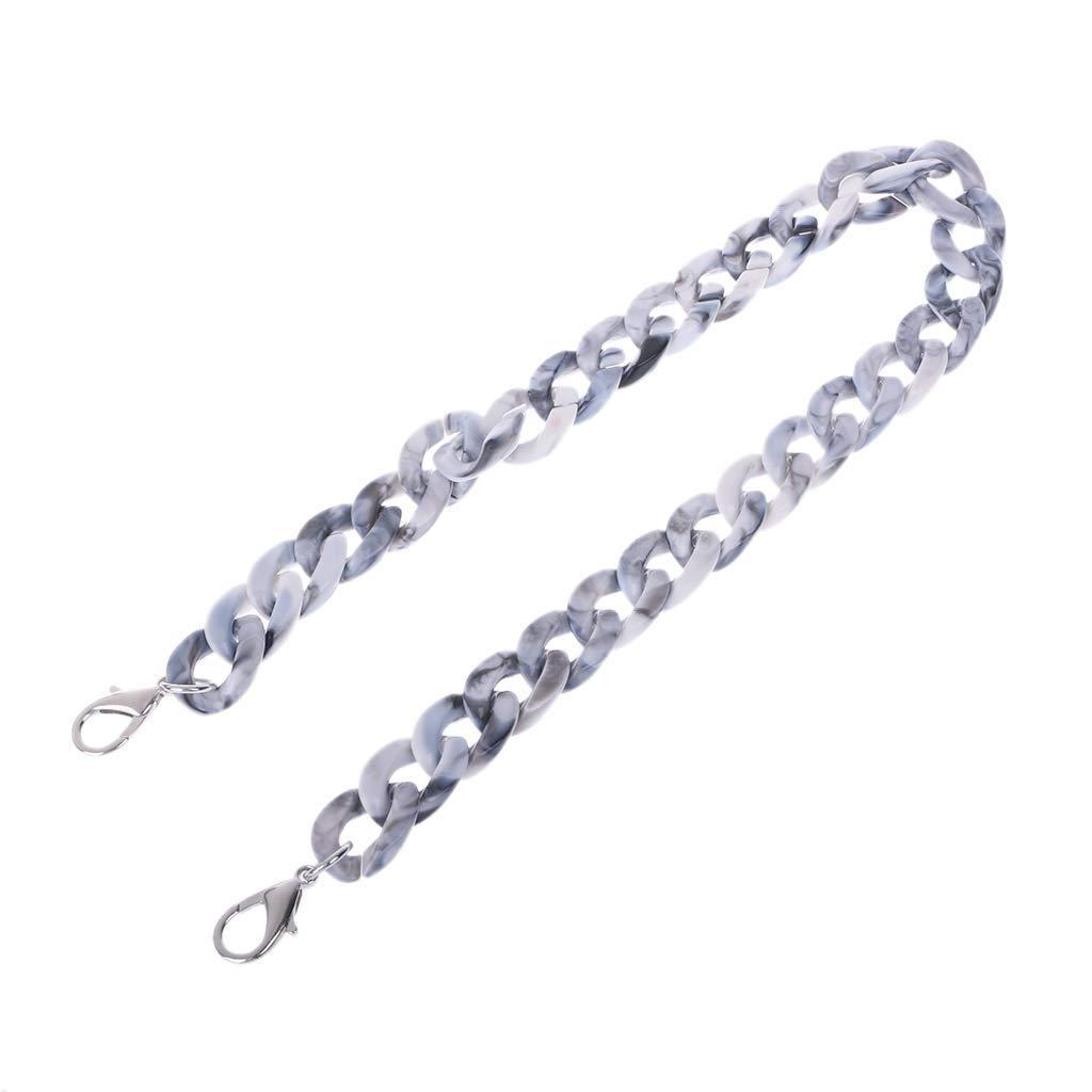 SimpleLif DIY Handbag Chain Replacement Straps Resin Bag Chain Replacement Handle Shoulder Crossbody Handbag Bag Strap 60-120cm