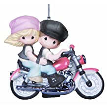 Precious Moments Our Love is a Journey Couple on Motorcycle Ornament 141037