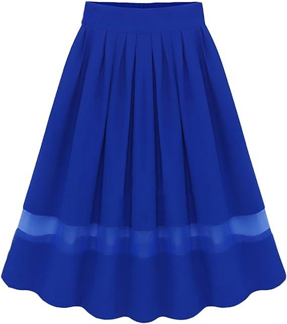 Faldas Mujer Elegantes Gasa Faldas Largas Verano Vintage Moda ...