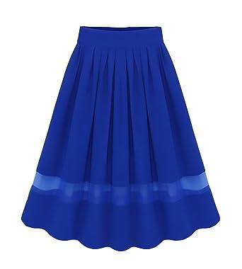 Faldas Mujer Elegantes Gasa Faldas Largas Verano Vintage Modernas ...