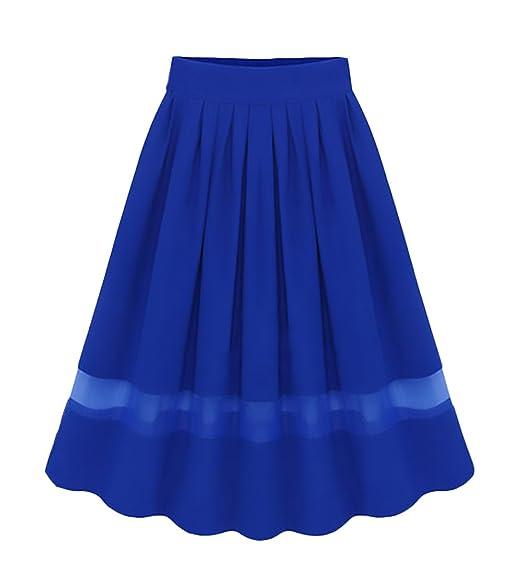 Falda Larga Mujer Elegantes Gasa Faldas Largas Verano Classic Chic ...